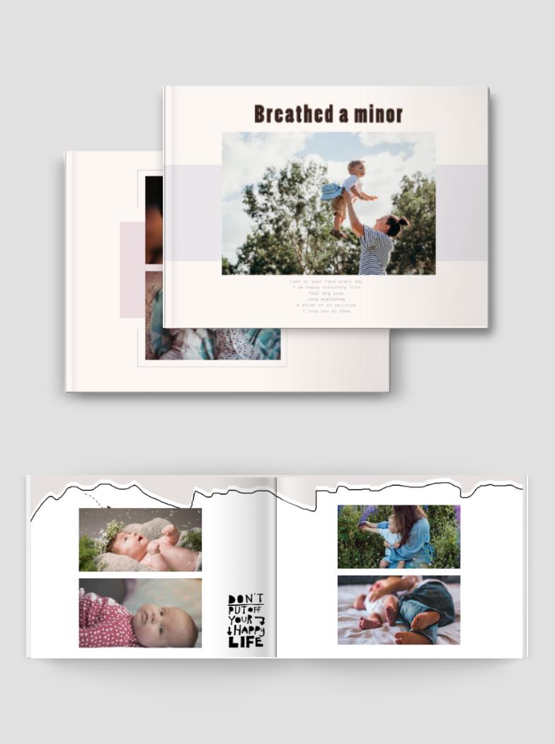 湖南儿童成长日记宝宝婴儿纪念童年记忆相册书模板